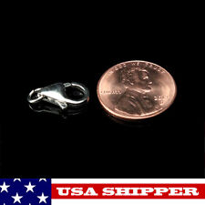 13x7mm Solid Sterling Silver Lobster Claw & Soldered Ring Fast shipper Aglc13
