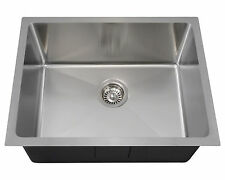 "MR Direct 1823 Undermount Single Bowl 3/4"" Radius Stainless Steel Kitchen Sink"