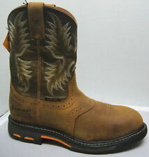 Ariat Mens #10008635 WorkHog Pull On H20 Composite Toe Work Boots- several sizes
