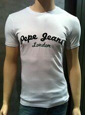 T SHIRT PEPE JEANS HOMME PM501188 COURT BLANC