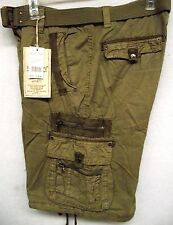 M Society Basic Esentials  Men's Chief  Drawstring Legs  Belted Cargo Shorts 804
