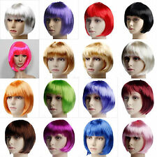 New Fashion Women Girls Student BOB Short Straight Party Wig Cosplay Full Wigs