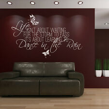 Life Isn't About Waiting Wall Sticker Home Wall Decal Art