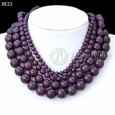 BE23 40cm/16inch Purple Synthetic Turquoise Wholesale Beads String