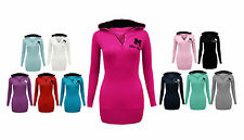 Womens New Miss Sexy Hooded Long Sleeve T-Shirt Hoodie Jumper Top Plus Size 8-20