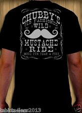 CHUBBY'S MUSTACHE RIDE MORE FUN THAN A PONY T-SHIRT SIZES SMALL TO 4XL NEW!!