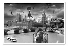 Thomas Barbey Blown Away Over Westminster Framed Cork Pin Memo Board With Pins