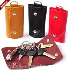 Fashion Women Door Car Key Faux Leather Keychain Holder Bag Purse Case 0815