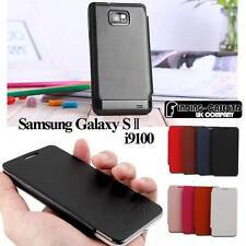 ULTRA SLIM BACK BATTERY COVER FLIP LEATHER CASE FOR SAMSUNG GALAXY S2 SII i9100
