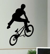 LARGE BMX TRICK TEENAGE WALL STICKER TRANSFER NEW ART POSTER DESPATCH UK