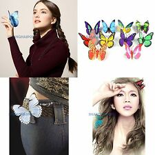 5 x Ladies Butterfly Hair Grips Clip Fascinator Clamps Ring Accessory Wedding