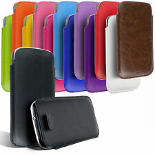 NEW PU Leather Pull Tab Case Cover Pouch Accessories For Samsung Galaxy S4 S5
