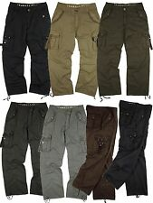 BNWT: MENS  sizes: 32-44  MILITARY-STYLE ASSORTED SOLID COLOR CARGO PANTS