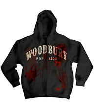 THE WALKING DEAD WOODBURY POPULATION 73 ZIP UP HOODIE NEW !