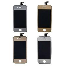 Metallic Mirror LCD Touch Screen Digitizer Assembly kit iPhone 4 4G GSM 4S
