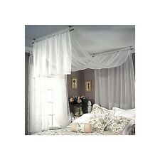 Studio Ceiling Mount Curtain Drapery Rod - Three Colors - Three Sizes