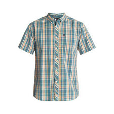 Quiksilver Honky Tonk Mens Shirt - Blue Grey Short Sleeve Airforce All Sizes