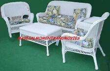 BAR HARBOR 10 PIECE OUTDOOR PATIO RESIN WICKER FURNITURE GROUP WITH CUSHIONS*NIB