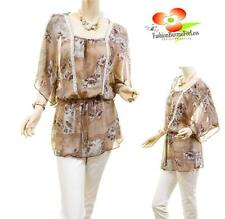 Women PLUS Victorian Faux Silk Chiffon Lace Batwing Peasant Blouse Shirt Top NWT