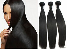 Brazilian 100% Human Hair Weave Extensions Virgin Remy Straight Unprocessed 100g