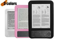 """Anti-Shock Silicone Case for the 6"""" Amazon Kindle 3rd Gen - Black, Pink or White"""