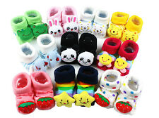 Lovely Newborn Baby Cartoon Cotton Socks Toddler Antiskid Shoes Boots 0-6 Months