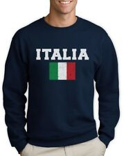 ITALIA FLAG Sweatshirt World Cup 2014 Distressed Italy Forza Italian Pride Flag