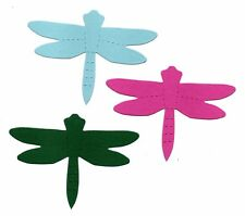 20 small Dragonfly die cuts sizzix assorted colours 5x7.5cm card making crafts