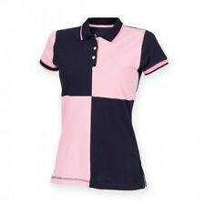 (Free PnP) Front Row Womens/Ladies Quartered House Slim Fit Polo Shirt S-2XL
