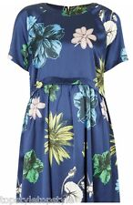 TOPSHOP EXCLUSIVE COLLECTION  ORIENTAL FLOWER BUD PRINT SMOCK  DRESS  RRP £46.00
