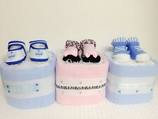 One(1) Tier Mini Small Nappy Cakes For Boy/Girl Christening,Baby Shower,Mum.