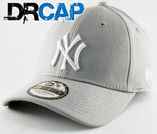 NEW ERA 39THIRTY CAP | NY YANKEES BASIC STRETCH FIT GREY / WHITE HAT