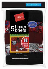 Hanes Boys Itch Free Comfort Stripe Boxer Briefs, 5-Pack. B755A5