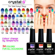 CRYSTAL-G CHANGING THERMAL UV LED GEL NAIL POLISH - FREE CND SHELLAC WRAP