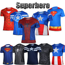 Marvel Superhero T-Shirt Avengers Costume Casual Tops Bike Running Jersey Tee