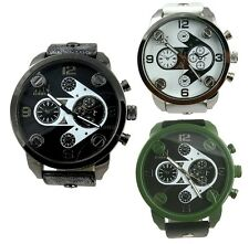 AN Daddy Chronograph Design Genuine Leather Strap Watch for Fashionable Men/Boys