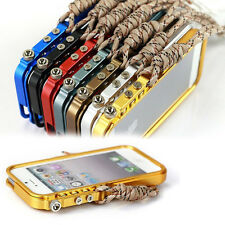 For Apple iPhone 5 5S 6 6S Aluminum Metal Hard Frame Bumper Cleave Case Cover