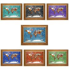 """31"""" Gemstone Wall World Map with Contempo Frame"""