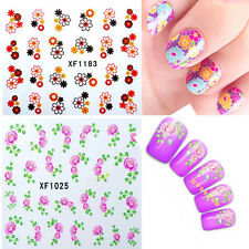 Flower Design DIY Polish Nail Art Tips Stickers Decal Wraps Acrylic Decorations