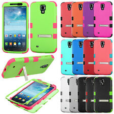For Samsung Galaxy Mega 6.3 I527 I9200 I9205 Case HYBRID STAND Rubber Hard Cover