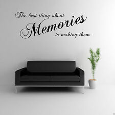 MAKING MEMORIES Wall Art Sticker Lounge Quote Decal Mural Transfer
