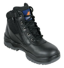 Mongrel 261020 Lace Up Zip UP Safety Boot/Work Boot - Steel Cap/Toe - Black