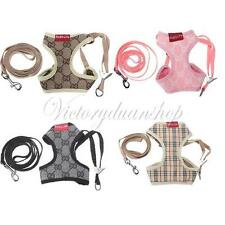 Dog Step In Soft Mesh Dog Puppy Vest/Harness Clothing Lead Pet Walk Leash 4COLOR