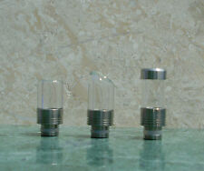 Wide Bore Glass & Stainless Steel Hybrid 510/901 Drip Tip