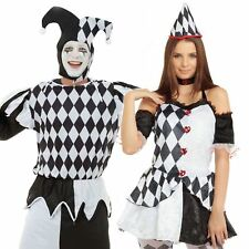 HARLEQUIN JESTER MEDIEVAL FANCY DRESS COSTUMES CLOWN CIRCUS ADULT OUTFIT