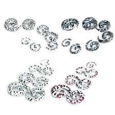 lot 7-size 00g-12g Spiral EAR STRETCHING KIT SET Tunnels Plugs Stretchers Tapers