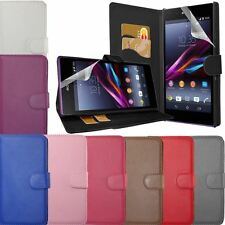 PU Leather Flip Wallet Case Cover For Sony Xperia Z L36H Z1 L39H/Compact Z2 M2