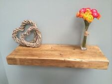 Rustic chunky wooden floating shelf