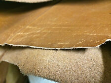 RIGID LEATHER COW HIDE SHEET THICK BROWN 1MM/2MM THICKNESS