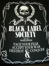 BLACK LABEL SOCIETY CREST EST. '98 WORLDWIDE FACE YOUR FEAR T-SHIRT NEW !